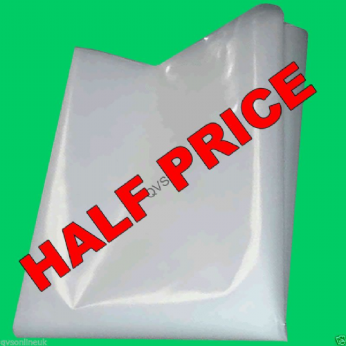 Clear Polythene 500 Gauge 2m wide HALF PRICE